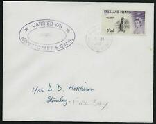 FALKLAND IS 1968 5½d Penguin on cover CARRIED ON / HOVERCRAFT SRN6.........61446