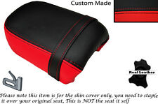 BLACK & BRIGHT RED CUSTOM FITS YAMAHA VIRAGO XV 250 REAR LEATHER SEAT COVER
