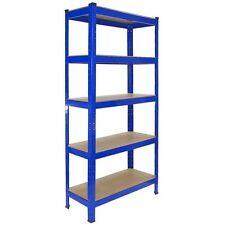 MENSOLA 1500 x700 x300 mm in acciaio Garage Scaffalature Forte MDF a incastro 5 piani Blu 1 X