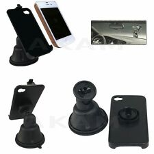 In Car Windscreen Mount Suction Holder 360 Rotating Cradle Stand iPhone 4G 4GS