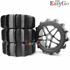 4pcs New RC 1/8 Baja Buggy Wheels & Snow / Sand Master Paddles Tires Set for HPI