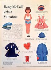 Betsy McCall Paper Doll Page, Betsy McCall Gets a Valentine, Feb. 1952