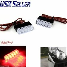 MOTORCYCLE LED TAILGATE LIGHT BAR RED LENS BRAKE/TURN SIGNAL LIGHTS Hazard Flash