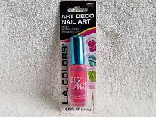 L.A.COLORS***ART DECO***NAIL ART~~#BNA631 FLAMINGO~~0.25 fl oz/7.5 ml~NEW~SEALED