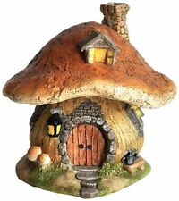 Mushroom Fairy House Statue (4196) Miniature Fairy Garden & Terrarium New in Box