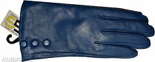 Women's Leather Gloves, Size (S). Turquoise Blue winter Leather Dress gloves #19
