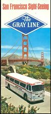 SAN FRANCISCO Gray Line Sight-Seeing Tour prices (1968) 14page fold-out brochure