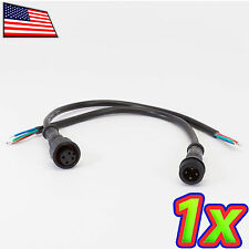 [1 pair] Waterproof 4 x 0.5mm Pin Connector Cables IP66 LEDs 5050 3528 WS2812