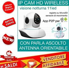 TELECAMERA IP 720P HD CAMERA CAM WIRELESS P2P REGISTRA MICRO SD LANRJ45 ONVIF