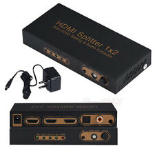 3D 1080P 1x2 Port HDMI Splitter With EDID Setting/ARK/Audio Extractor Converter