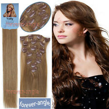 Premium 100% Real Brazilian Natural Clip In Remy Human Hair Extensions 7Pcs/Set