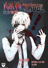Tokyo Ghoul Season 1+ 2 DVD (Vol. 1 - 24 End)  English Audio + 2 OVA