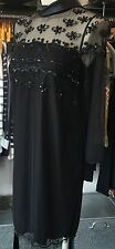 TWIN Set Simona Barbieri Abito Nero bbraded COLLARE Sheer dettagli S o L £ 249
