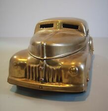 Metal Industrial Sedan Automobile Cosmetic Art Deco Tobacco Storage Box Car