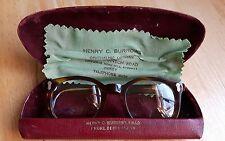 VINTAGE 1940'S HENRY C.BURROWS GLASSES BROWN TORTOISESHELL CHILDRENS/SMALL ADULT