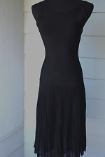 SEXIEST $3200 Chanel Black Noir Rayon Knit Dress Size 38 Made In France NR