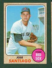 1968 TOPPS BB #123 JOSE SANTIAGO/R. SOX EX/MT