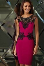 Lipsy michelle keegan  lace applique oxblood red dress 16 BNWT  RRP £65 RARE!