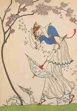 A4 Foto Barbier George manieres Daujourdhui 1912 le coup de ventilación de impresión de cartel