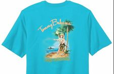 NEW TOMMY BAHAMA SHIRT Line Dancing Blue TR215886 MENS T-SHIRT Christmas L Large