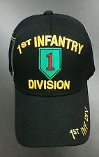 US ARMY 1ST INFANTRY DIVISION BLACK AUTHENTIC LICENSED CAP HAT