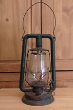Antique Old Used Metal Green Paulls Tubular Barn Lantern Kerosene Lamp Parts