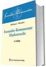 *NEU* FORMULAR-KOMMENTAR MARKENRECHT
