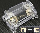 CAR STEREO AUDIO INLINE SILVER ANL FUSE HOLDER 0 2 4 GAUGE 250 AMP 250A 250AMP