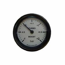 Mocal Mechanical Turbo Boost Pressure Gauge -1 to 2 Bar Range - White Dial Face