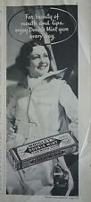 1935 Wrigleys Double Mint Chewing Gum For Beauty of Mouth & Lips  Ad