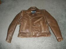 X element Distressed Brown Mayhem Cowhide Traditional Leather Motorcycle Jacket
