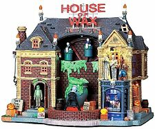 Lemax 95827 HOUSE OF WAX Spooky Town Lighted Building Animated Halloween Decor I
