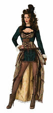 STEAMPUNK MADAME SEXY WOMEN'S FANCY DRESS COSTUME ONE SIZE