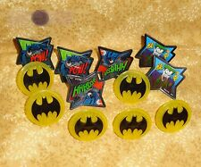 Batman,Pow-Whooshhh,Cupcake Party Rings,Toppers,DecoPac,Multi-Color,Plastic,