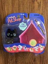 315 Fuzzy Black Scotty Dog littlest pet shop NEW retired Fuzzy Scottish Terrier