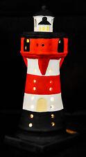 Leuchtturm Keramik Windlicht 20cm Deko Teelichthalter