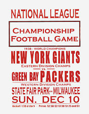 "Packers vs Giants 1939 Championship Game Promo Poster  - 8""x10"" Photo"