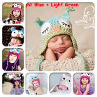Cute Handmade Baby Boy Girl Crochet knit OWL Beanies Hat designs from new born
