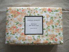 NEW Laura Ashley 4pc Queen Sheet Set Cottage Floral SAVANAH Yellow Apricot Green