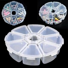 Empty Storage Box Jewelry Container Nail Art Rhinestones Case 8 Grids