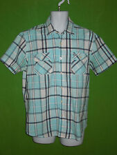 Slade Wilder Destroy Tradition cotton short sleeve checks casual shirt size L