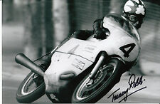 Tommy Robb Hand Signed 500 Seeley 1970 9x6 Photo.