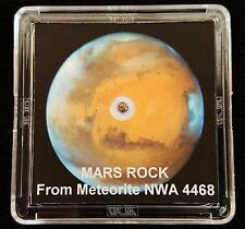 AUTHENTICATED MARTIAN METEORITE- Deluxe 12mg Mars Rock Display with Easel  h
