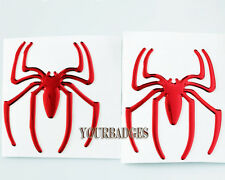 2 Spider Epoxy Sticker Set  Red Car Sticker Decal badge Alfa Romeo