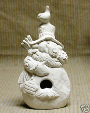 Ceramic Bisque Bird House Snowman Kimple Mold 3182 U-Paint Ready To Paint