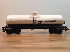"HO Scale ""Cyanamid"" Single Dome Oil Tanker Freight Train Car"
