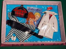 Barbie WINTER HOLIDAY #975 Outfit 1959 VINTAGE Repro NRFB Pink Striped Box