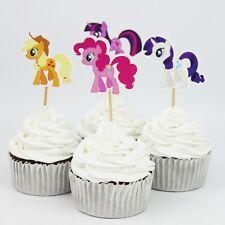 12 X Mi Pequeño Pony Cake selecciones Cupcake Toppers Banderas Niños Niñas Cumpleaños Fiesta