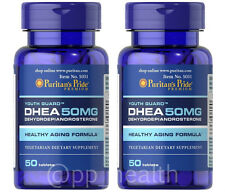 2X Puritan's Pride DHEA 50mg total 100 Tablets Building Muscle Burning Fat