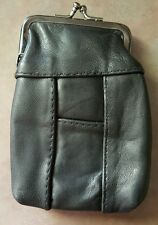 Eclipse Leather Black Cigarette Snap Case Up To 100's Ultra Soft